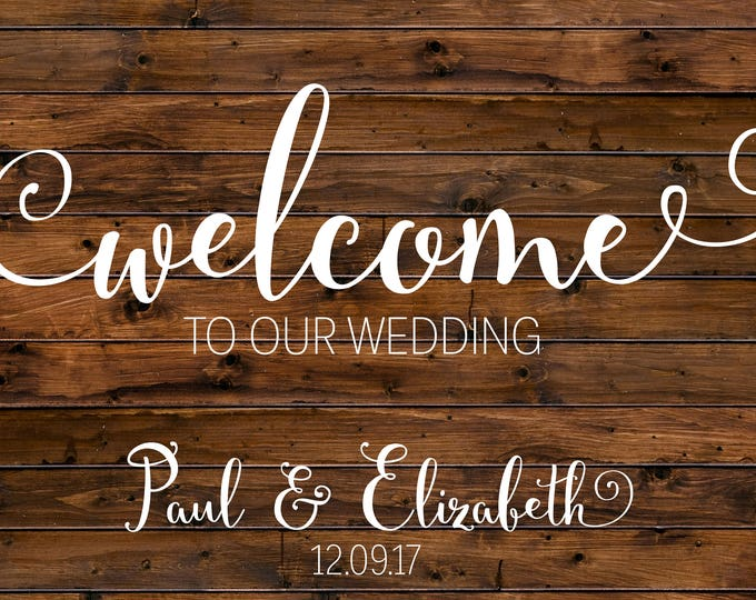 Rustic Wedding Welcome Sign / Welcome Wedding Sign / Wood Welcome Wedding Sign / Custom Wedding Sign / Printable Wedding Sign / Digital File
