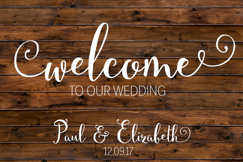 Rustic Wedding Welcome Sign Wood Custom Printable Digital File