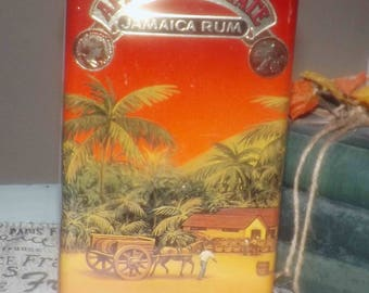 Vintage (c.1992) Appleton Estate Jamaica Rum X/V lithographed, hinged tin. Tin manufactured in England.