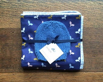 Receiving Blanket and Hat set