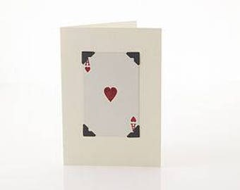 Valentine's Card by Vintage Playing Cards FREE UK SHIPPING