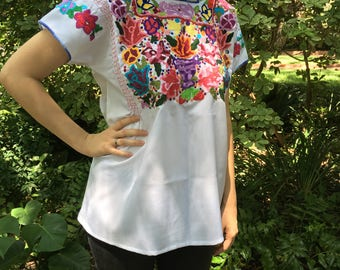 Hand Embroidered Mexican Shirt