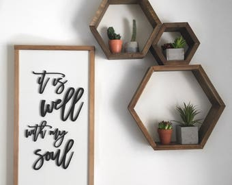 It Is Well With My Soul | Wood Sign | Christian Hymn | Home Decor
