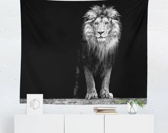 Lion Tapestry | Lion Wall Tapestry | Lion Wall Décor | Lion Gift | Lion Wall Art | Lion Art | Lion Décor