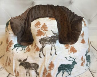 Woodland Animal Brown Bumbo Seat Cover
