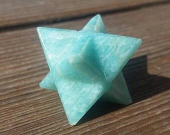 GEMSTONE MERKABA STAR Natural Amazonite (One)