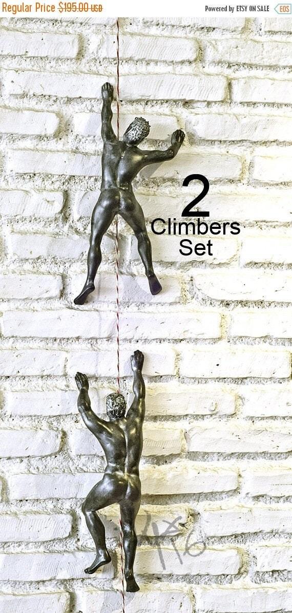 mur sculpture grimpeur escalade homme mur grimpeur mur d cor. Black Bedroom Furniture Sets. Home Design Ideas
