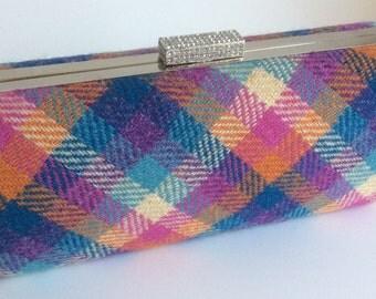 Turquoise clutch bag - Purple clutch bag - Pink clutch bag - Orange clutch bag - Teal clutch bag - Harris Tweed clutch bag