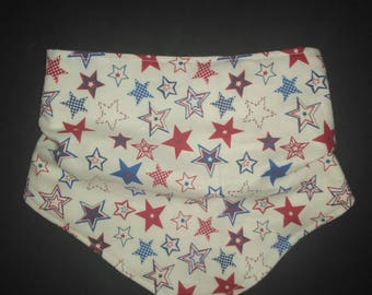Red, White and Blue Stars Bibdana