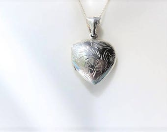 Heart Locket Sterling Silver Necklace