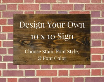Wooden sign etsy for Design your own house sign