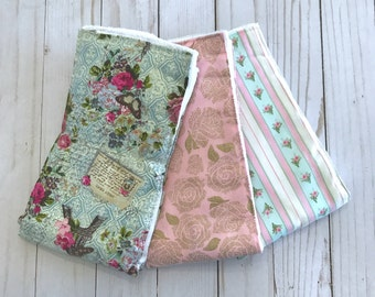 Vintage Paris ~ Burp Cloths ~ Set of 3