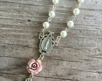 Victorian rose rosary