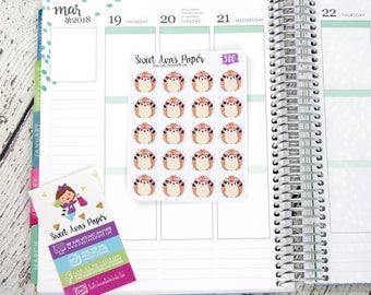 Hedgehog Planner Stickers | Lifting Weights Stickers | Fitness Planner Stickers | Work Out Stickers | Character Sticker | 580