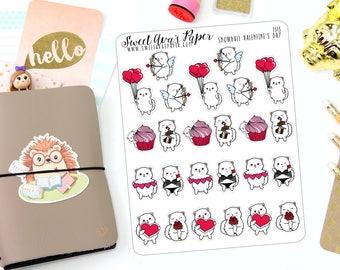 Valentine's Day Planner Stickers - Cat Planner Stickers - Teddy Bear Stickers - Date Night Stickers - Anniversary Stickers - 1313