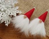 Festive earrings Christmas party favors Stocking stuffers for girlfriend Christmas earrings Holiday earrings Gnome earrings Party earrings