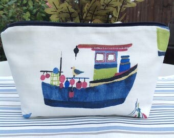 Boat gifts, boat accessories, boat decor, boat lovers gift, seaside gifts, nautical gifts, cosmetic bag, make up bags, uk seller