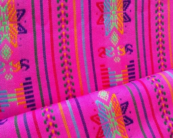 Mexican pink Rebozo, Supply Aztec fabric, Mexican striped fabric, Zarape blanket, ethnic fabric, Folk Fabric Supply, Mexican Table Runner