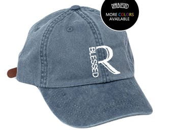 Real Blessed Logo Dad Hat - Charcoal - Denim - Neon - Wheat - White - Navy
