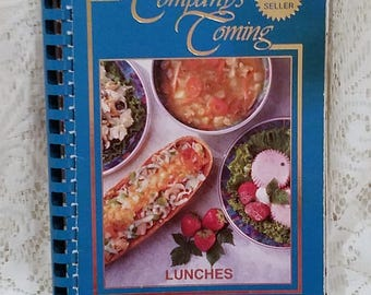 Company's Coming Lunches, Jean Pare, Vintage Cookbook, Entertaining, Ladies Luncheon Recipes