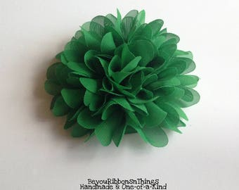 Peony Chiffon Flower 4.5"