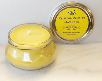 Lavender Beeswax Candle - Aromatherapy Candle - Pure Beeswax Candle - Lavender Essential Oil - Gift for Her - Mothers Day - Valentine's Day
