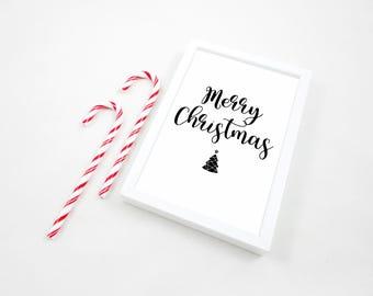Merry Christmas Printable, Printable Print, Xmas Print, Happy Holidays Print, Christmas Printable, Christmas PDF, Christmas Decor, Gift, JPG