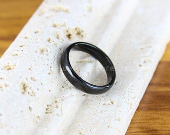 FREE SHIPPING FREE Custom Engraving Classic 4mm Black Tungsten Band with Domed Edge Wedding Band 4mm Black Tungsten Wedding Ring Black Ring