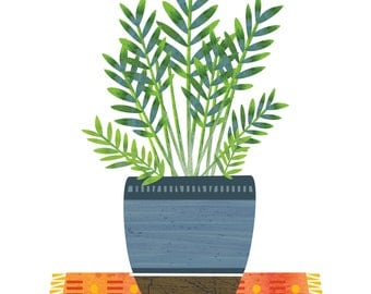 Flourishing Plant, Green Plant, Potted Plant, Fern