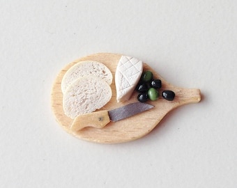 Miniature Food Cheese Board | Dollhouse 1:12 Scale