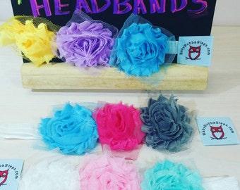 Triple Roses Baby Headband