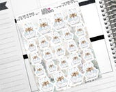"""FIONA the FRENCHIE - """"I Love Bubble Baths"""" - Decorative Planner Stickers from the Little Fiona the Frenchie Collection Series"""