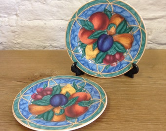 Vintage Pair of Victoria & Beale Forbidden Fruit 9024 Salad/Desert plates  in a good condition