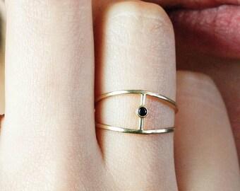 Diamond Ring, Gold Ring, 14K Solid Gold Ring, White Diamond Ring, Brilliant Diamond Ring, Simple Diamond Ring, Gold Rings for Women, GR0257