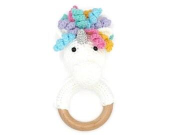 CROCHET PATTERN unicorn rattle (+ free donkey and horse pattern)