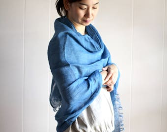 Plant dyed, Linen gauze, Big, Scarf, Neck Warmer, Naturally Dyed, Womens, mens, wrap, shawl, Hand dyed,Ethical, Eco-friendly, Sustainable