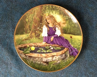 "Vintage Kaiser Porcelain Collectors Plate, ""Der Froschkonig"" The Frog King by Gerda Neubacher, Princess and the Frog"