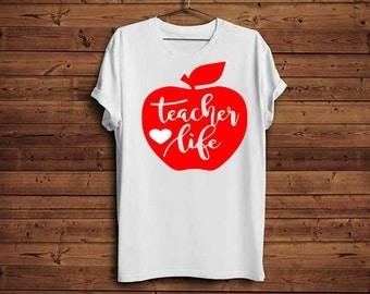 Teacher life svg, Teacher svg, School svg, Back to school svg, Teacher appreciation, Teacher life, Apple svg, Teaching svg, School life svg