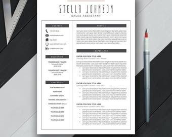 modern resume template cover letter cv template us letter a4 professional - Cover Letter And Resume Template