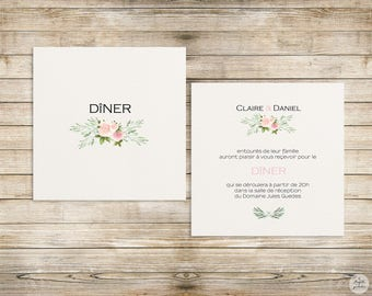 Pink-olive-lunch/Brunch - wedding invitation wedding Invitation collection