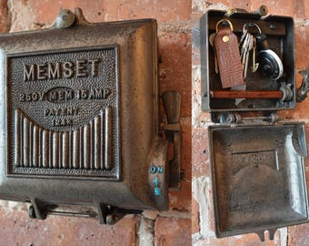 fuse box rh etsy com Old Electrical Fuse Panels antique fuse box with meter