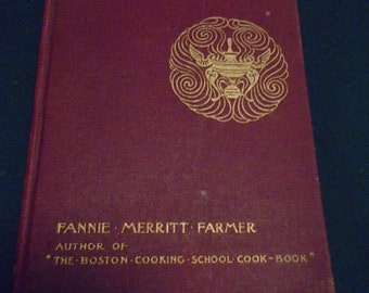 Chafing Dish Possibilities 1905 edition of 1898 Book by Fannie Merritt Farmer