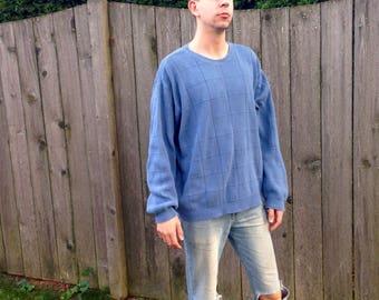 Blue vintage sweater | Etsy