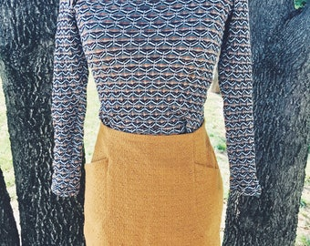 Vintage 1970s Stretch Crop Top