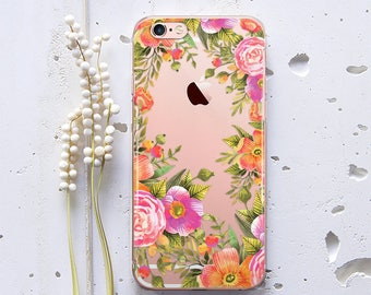 iPhone 6 Case iPhone 7 Case iPhone X Case iPhone 7 Plus Case iPhone 6 Plus Case iPhone 8 Plus Case Flower iPhone Case Silicone Floral WC1231