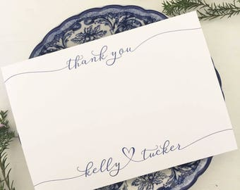 Personalised Thank You Note Cards, Custom Thank You Note Sets, Personalized Stationery Sets, Wedding Thank You Notes, Thank You Cards