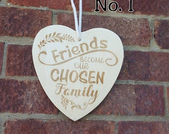 Wooden Friendship Signs (Free P&P)