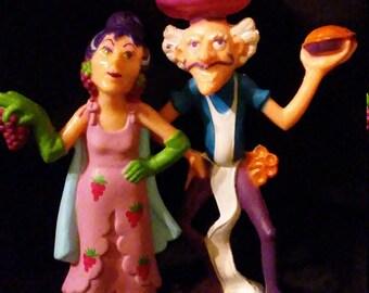 Vintage 1980s Strawberry SHORTCAKE Sour Grapes and Purple Pieman Mini PVC Figures!!
