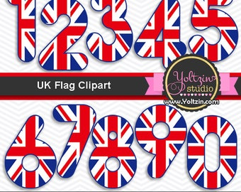 London clipart , United Kingdom flag clipart, London England British Clip art , clipart UK number numbers png images INSTANT DOWNLOAD
