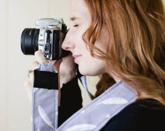 White Feather Camera Strap